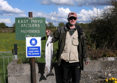 Ben Baynes, Castlebar, 11 lb Salmon, Ballylahan Bridge with worm April 2015