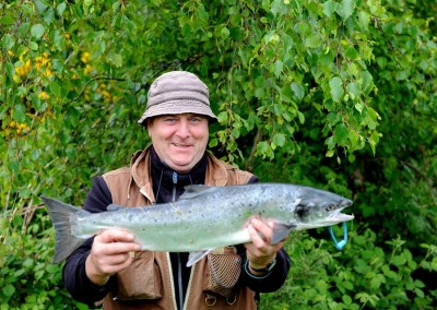 Eamon Mag Raibhiagh, N.Ireland, 7 lb salmon, Ballylahan Bridge with worm 31st May 2015